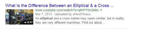 exercise machines - the elliptical
