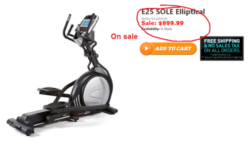 sole e25 elliptical on sale