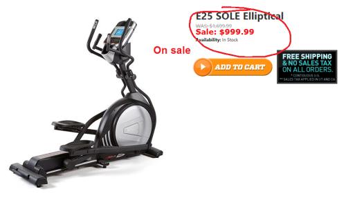 sole e25 elliptical on sale
