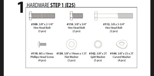 sole e25 hardware step 1
