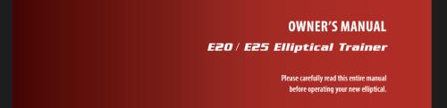 sole e25 owners manual
