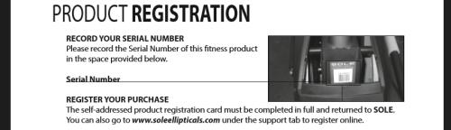 sole e25 product registration