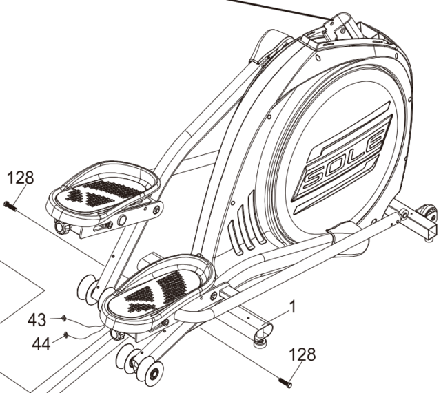 sole e55 elliptical flywheel 2016