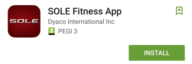 sole fitness app for e25 elliptical install