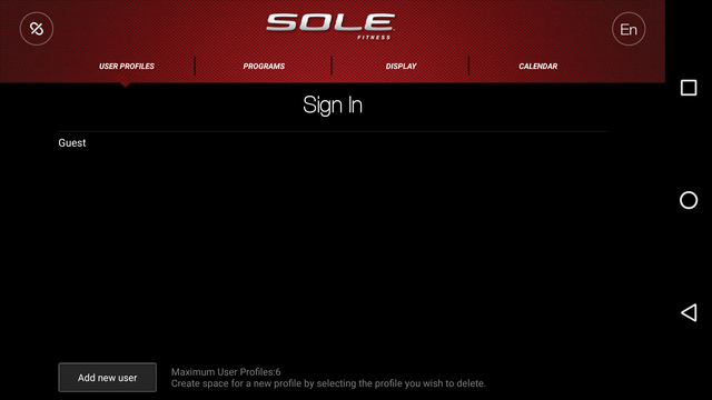 sole fitness app for e25 elliptical sign in